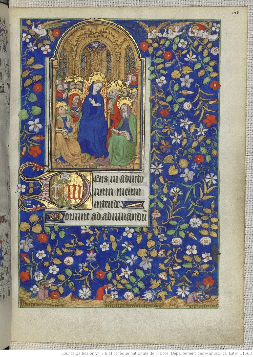 Heures de Marguerite d'Orleans 1430 ca BNF Latin 1156B fol 186r Gallica
