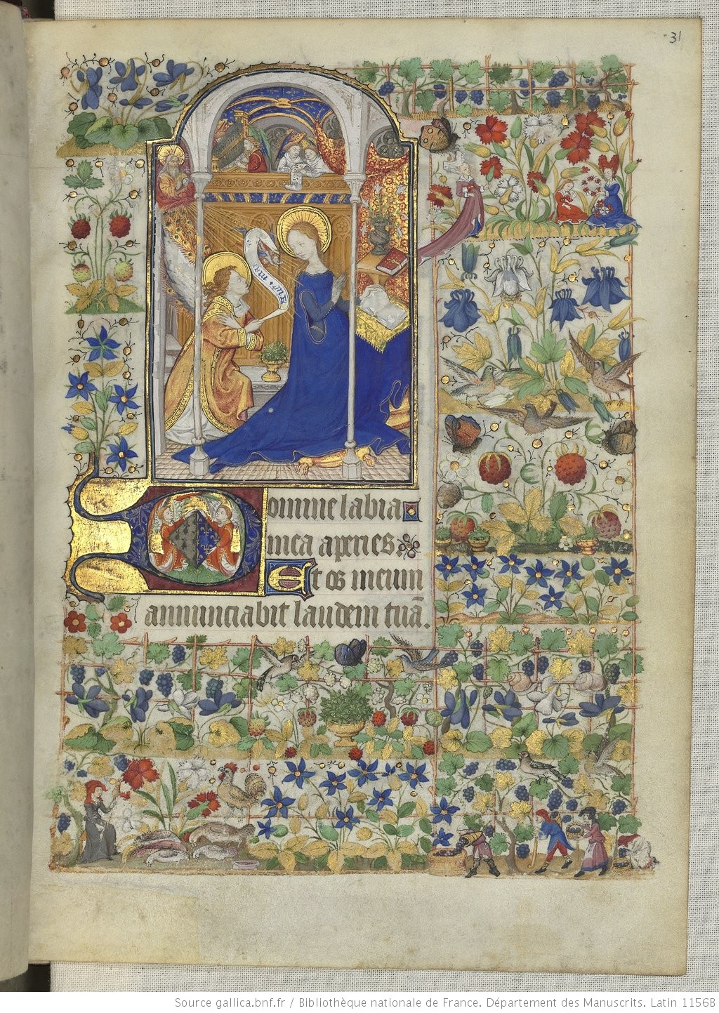 Heures de Marguerite d'Orleans 1430 ca BNF Latin 1156B fol 31r Gallica