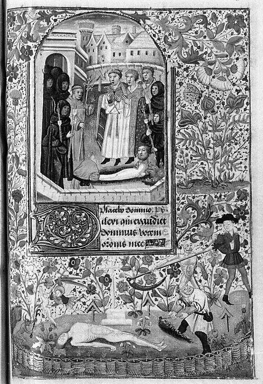 Heures de Pierre II (Paris, BnF. ms. lat. 1159 vue 106