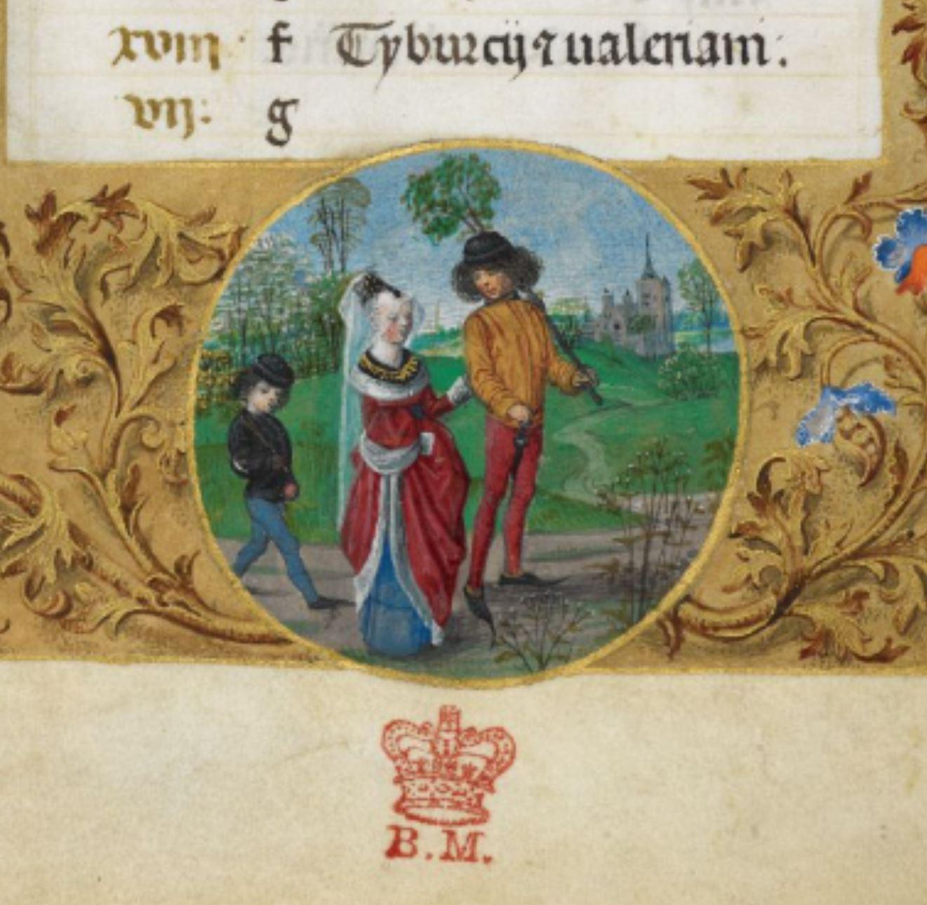 Huth Hours, Netherlands (Bruges or Ghent), c. 1480, Add MS 38126, f. 4v april