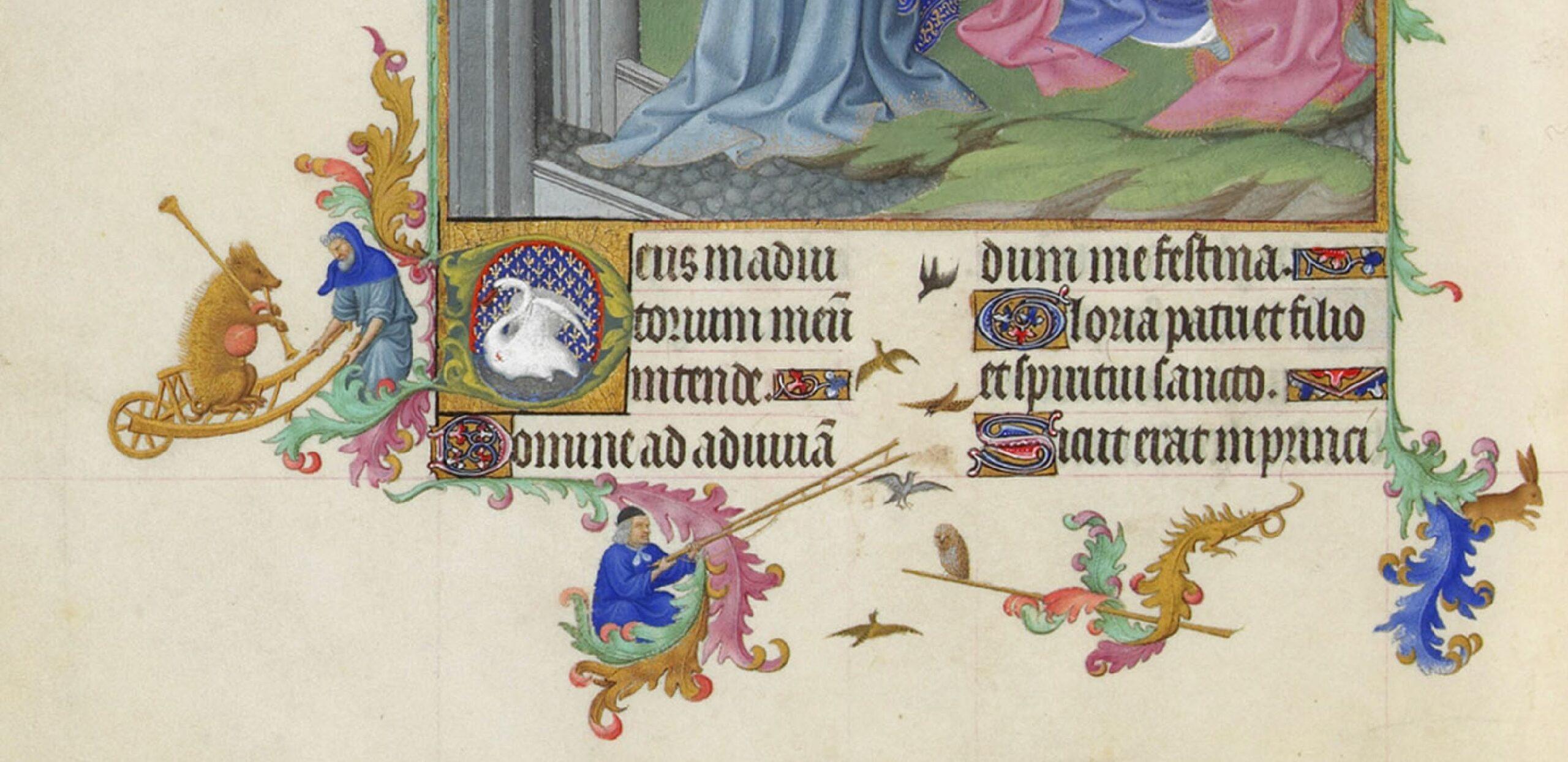 Les_Tres_Riches_Heures_du_duc_de_Berry Musee Conde Chantilly MS 65 fol 38v Limbourg 1411-16 bordure inferieure