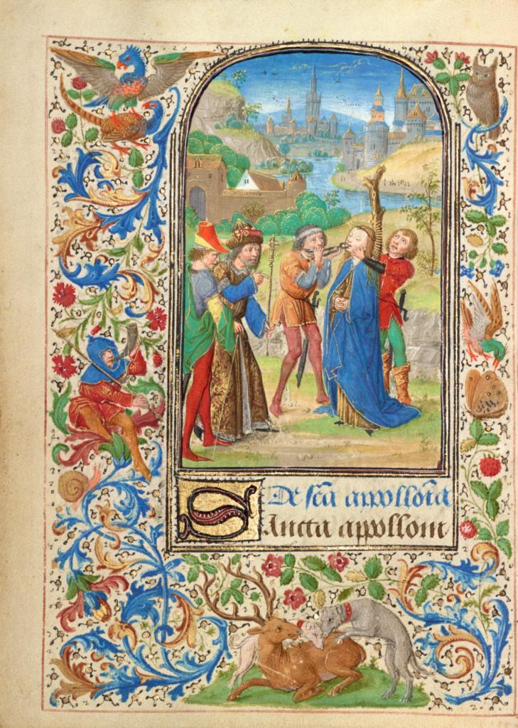 Lieven van Lathem 1469 Ste Appolonie Getty Museum, Los Angeles, Ms. 37, fol 50v