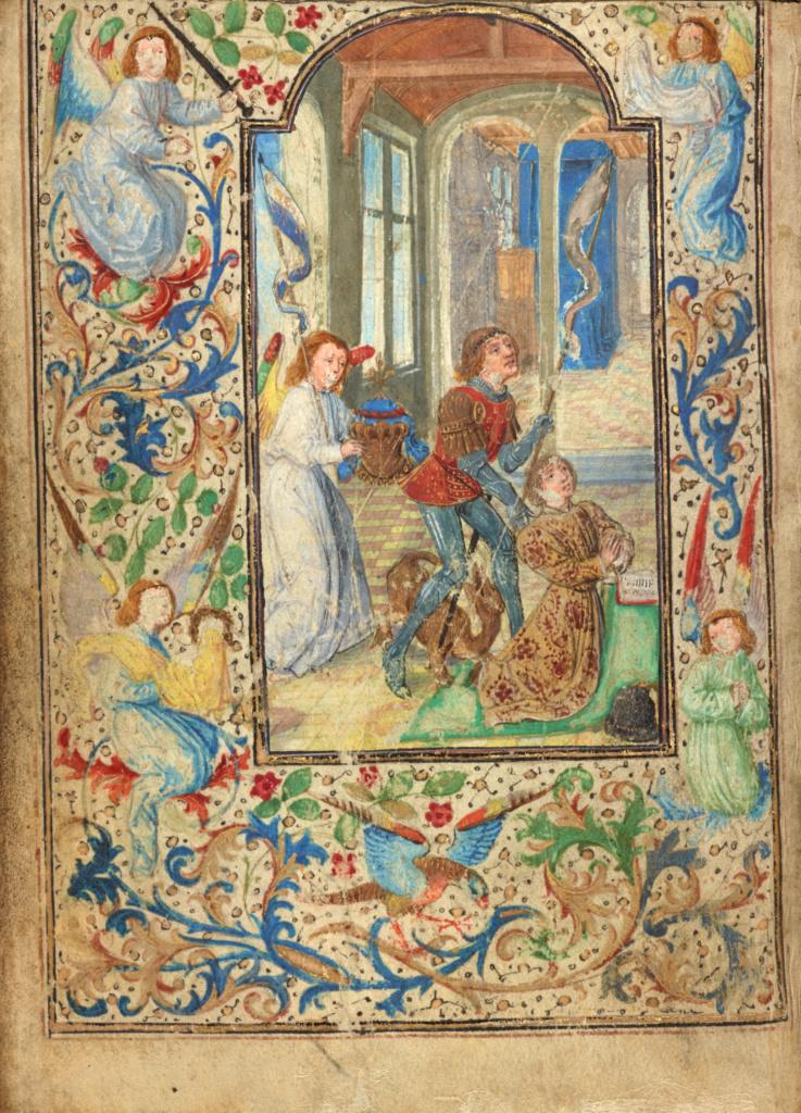 Lieven van Lathem 1471 ca Charles le temeraire Getty Museum, Los Angeles, Ms. 37, fol 1v