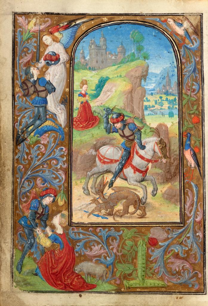 Lieven van Lathem 1471 ca St Georges, Getty Museum, Los Angeles, Ms. 37, fol 67v