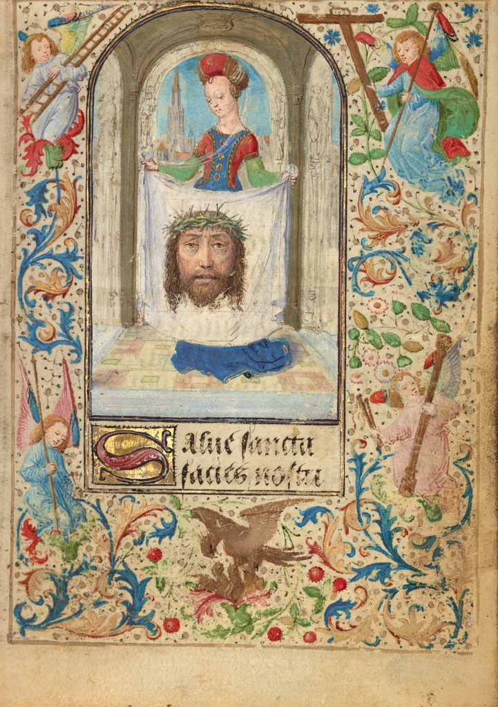 Lieven van Lathem 1471 ca Ste Veronique Getty Museum, Los Angeles, Ms. 37, fol 2r