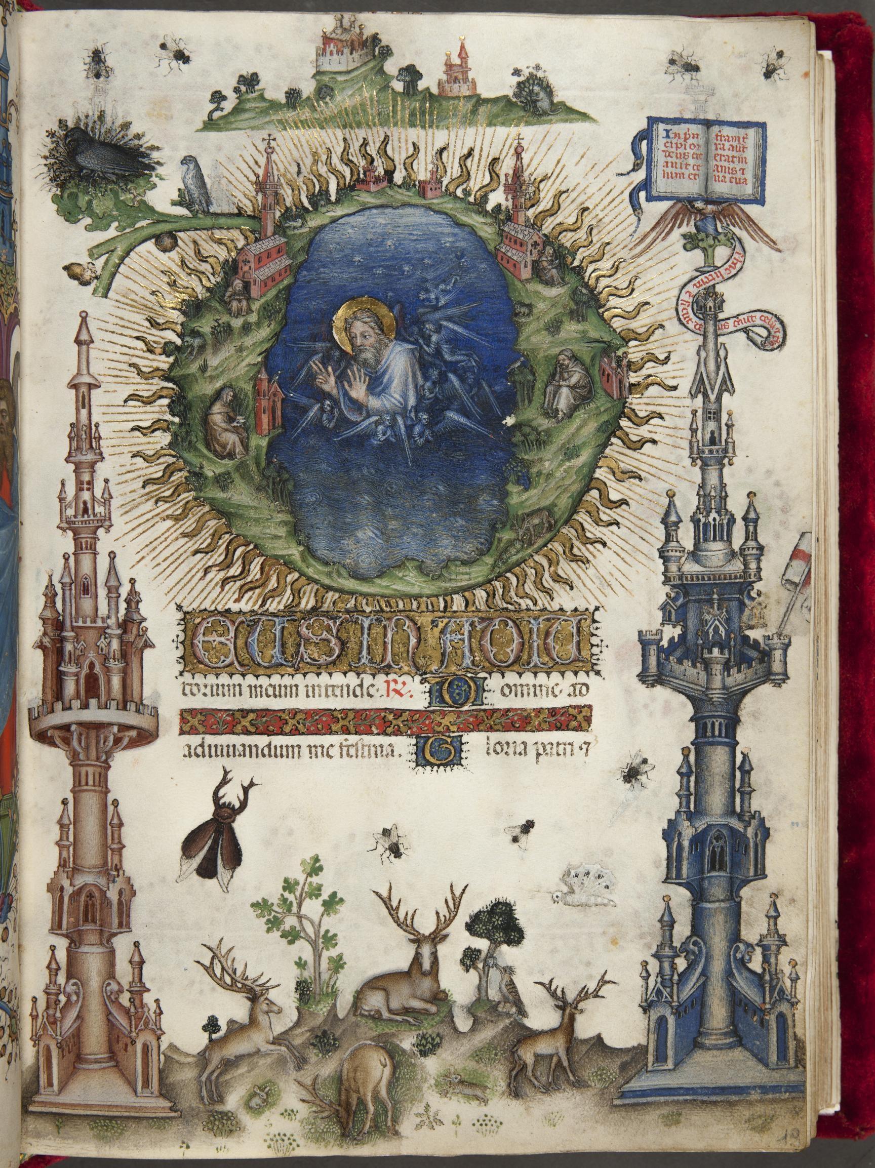Livre d'Heures de Jean Galeas Visconti Vol 2 Florence FBNC Landau Finaly 22 fol LF19 25 × 18 cm 1412 ca Belbello da Pavia