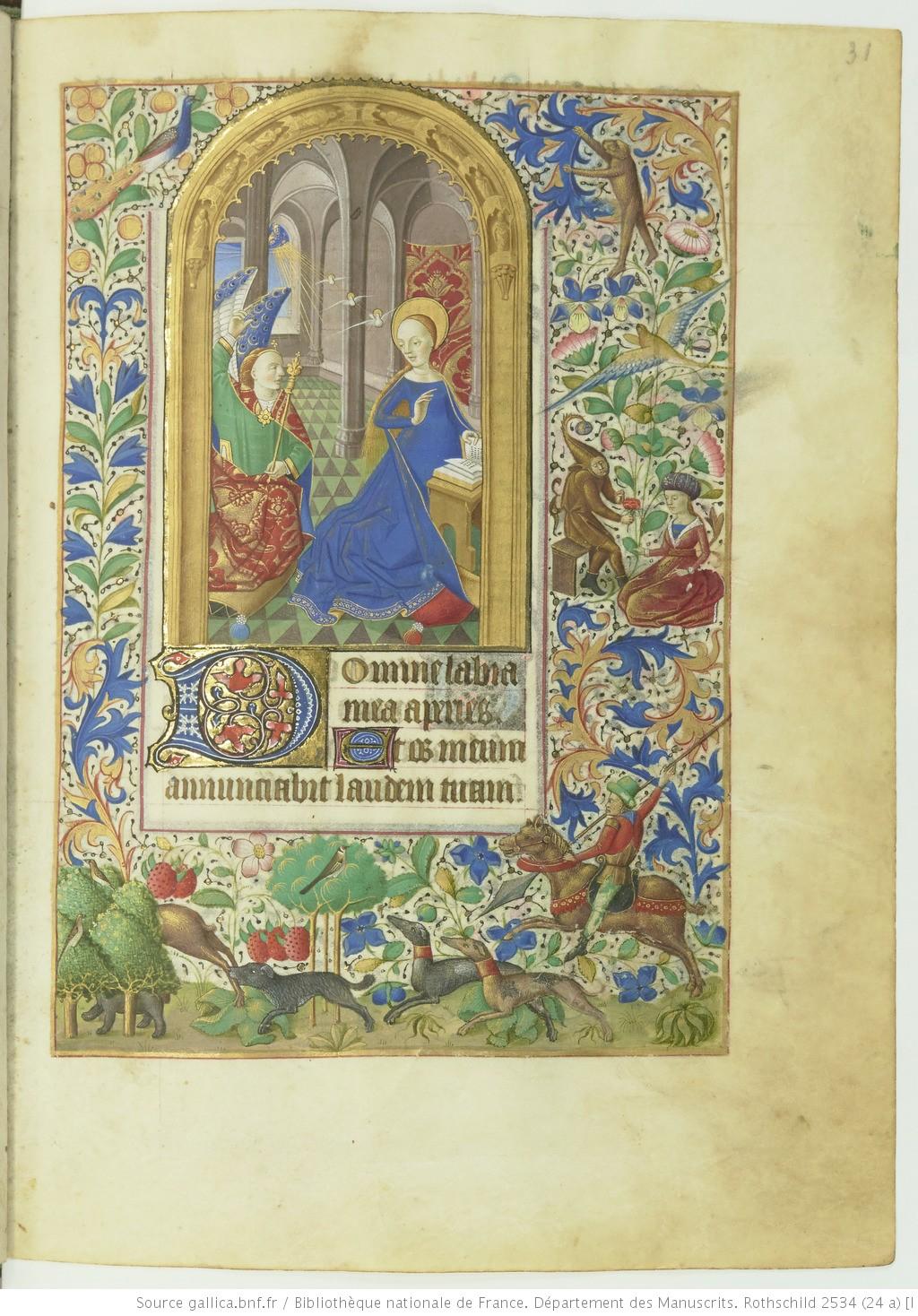 Livre d'heures (Paris, BnF. ms. Rothschild. 2534 fol 31r