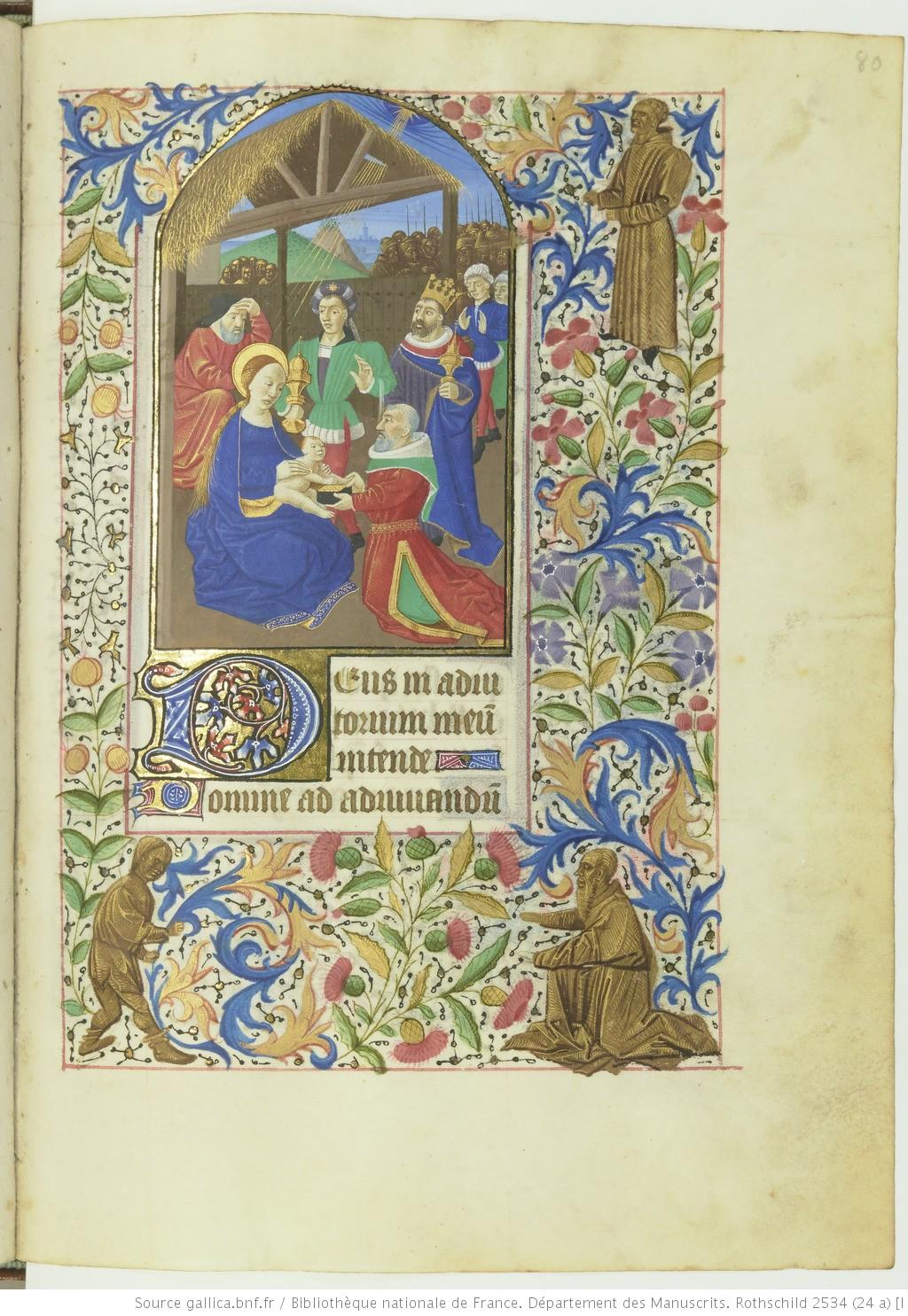 Livre d'heures (Paris, BnF. ms. Rothschild. 2534 fol 80r