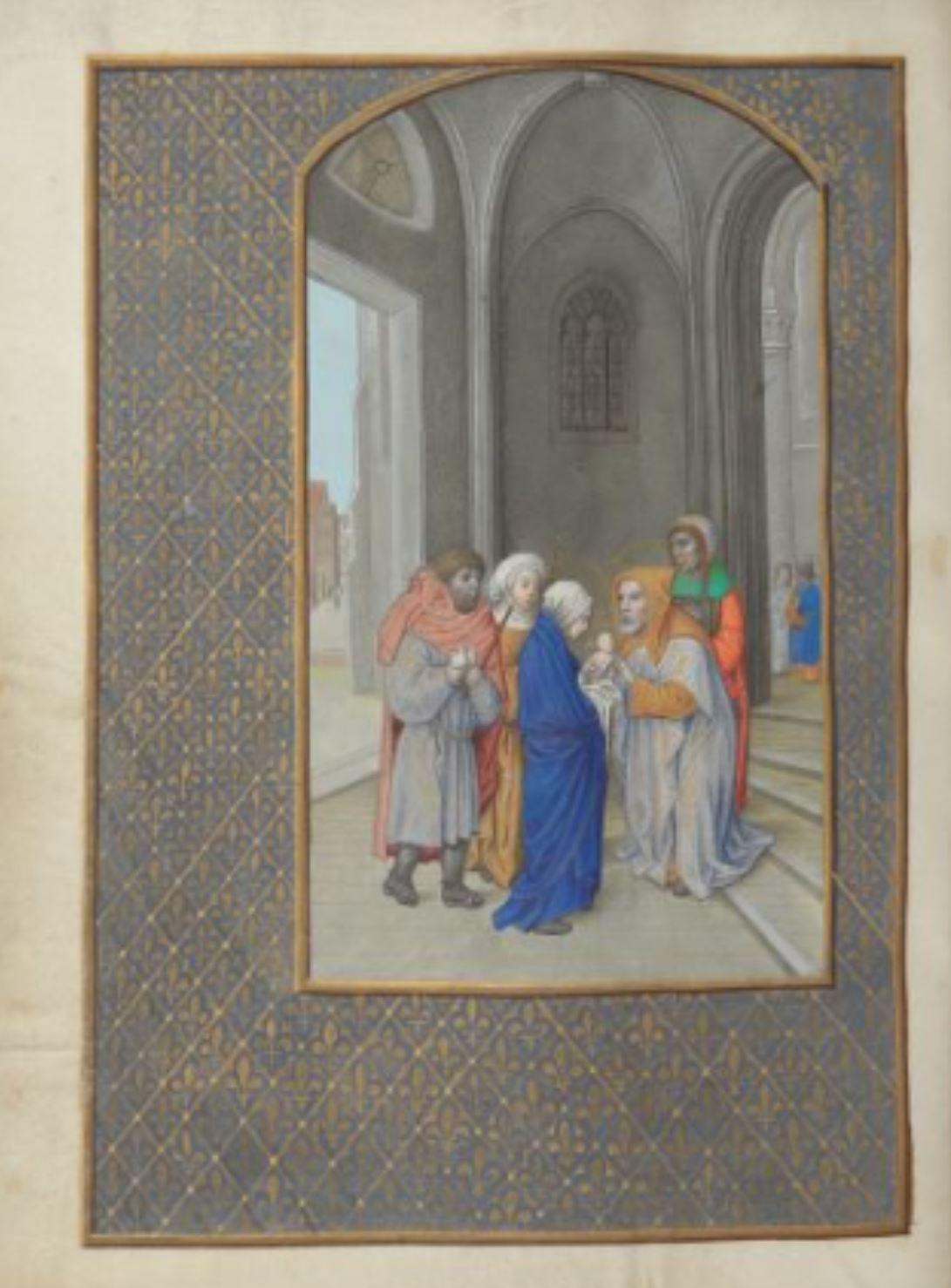 London Hastings Hours Add MS 54782 c 1480 fol 125v Presentation du Christ au Temple
