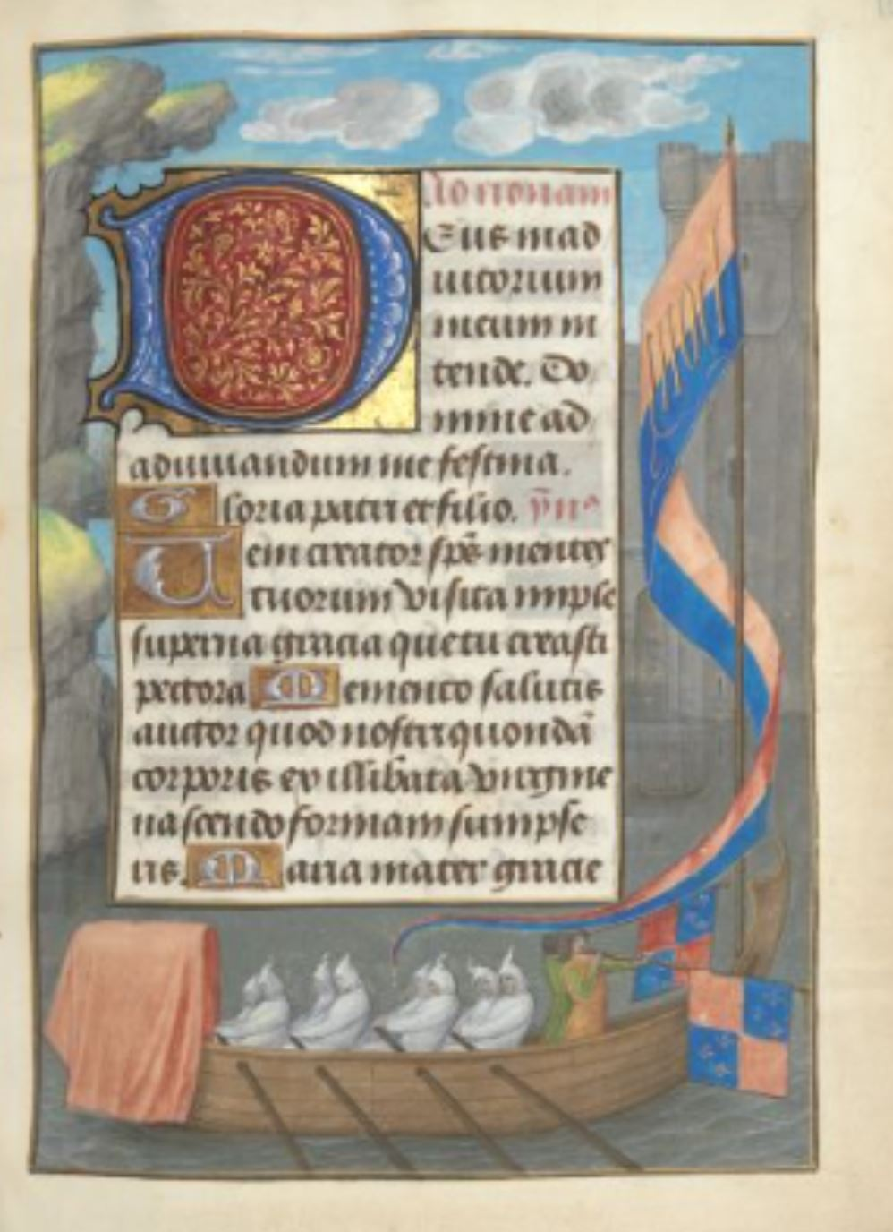 London Hastings Hours Add MS 54782 c 1480 fol 126r Barque royale