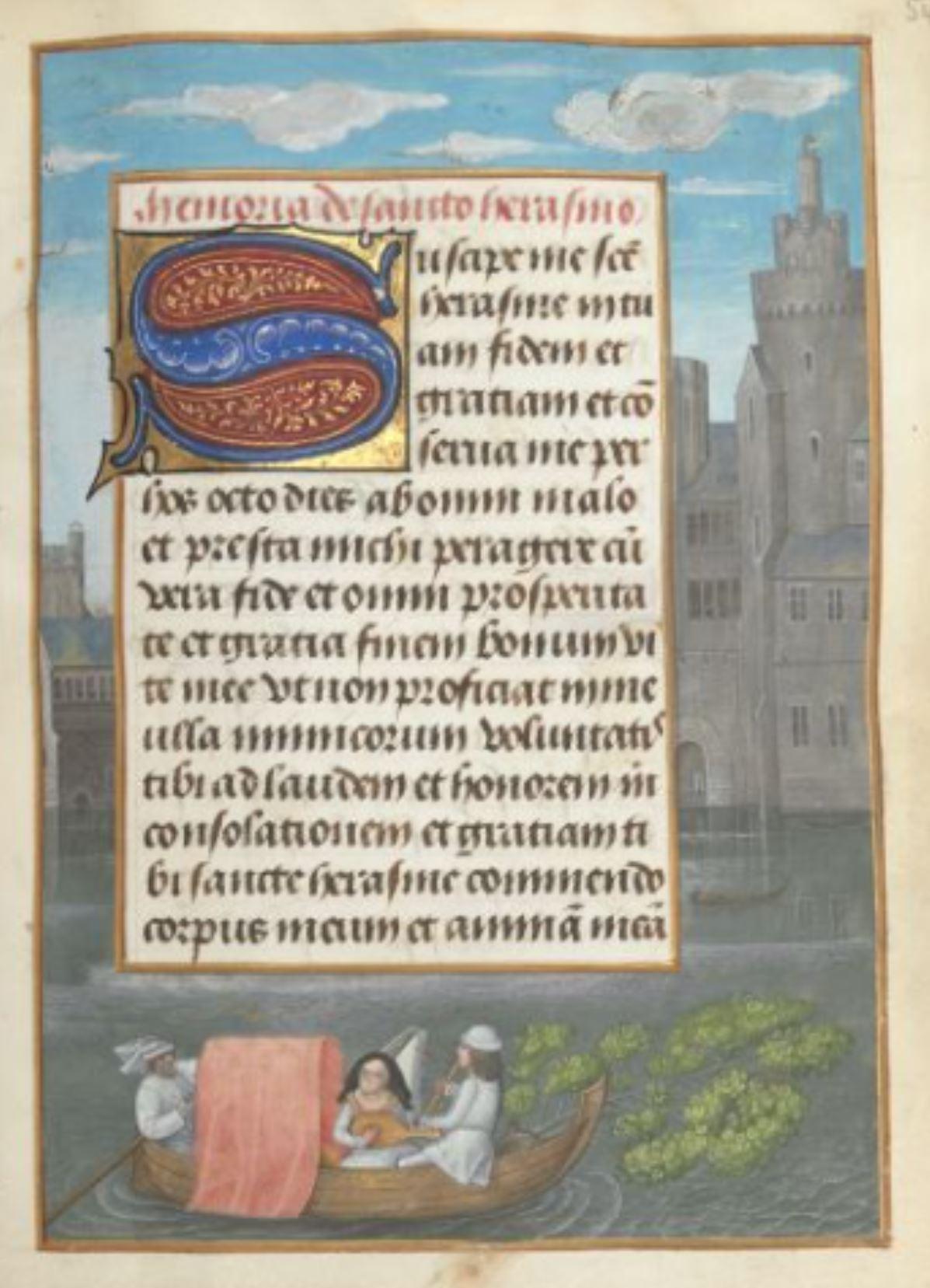 London Hastings Hours Add MS 54782 c 1480 fol 54r St Erasme