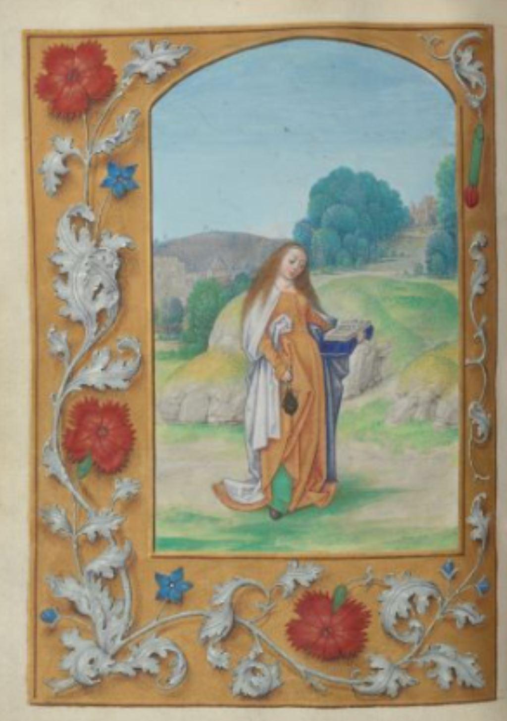 London Hastings Hours Add MS 54782 c 1480 fol 66v Ste Zita