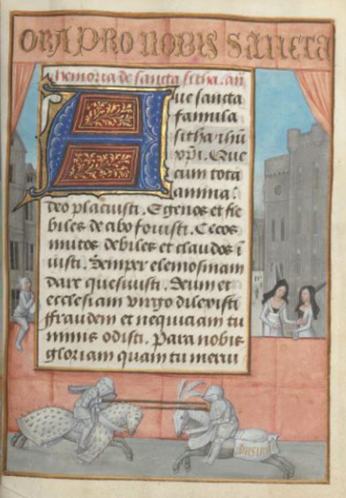 London Hastings Hours Add MS 54782 c 1480 fol 67r Tournoi d'amour