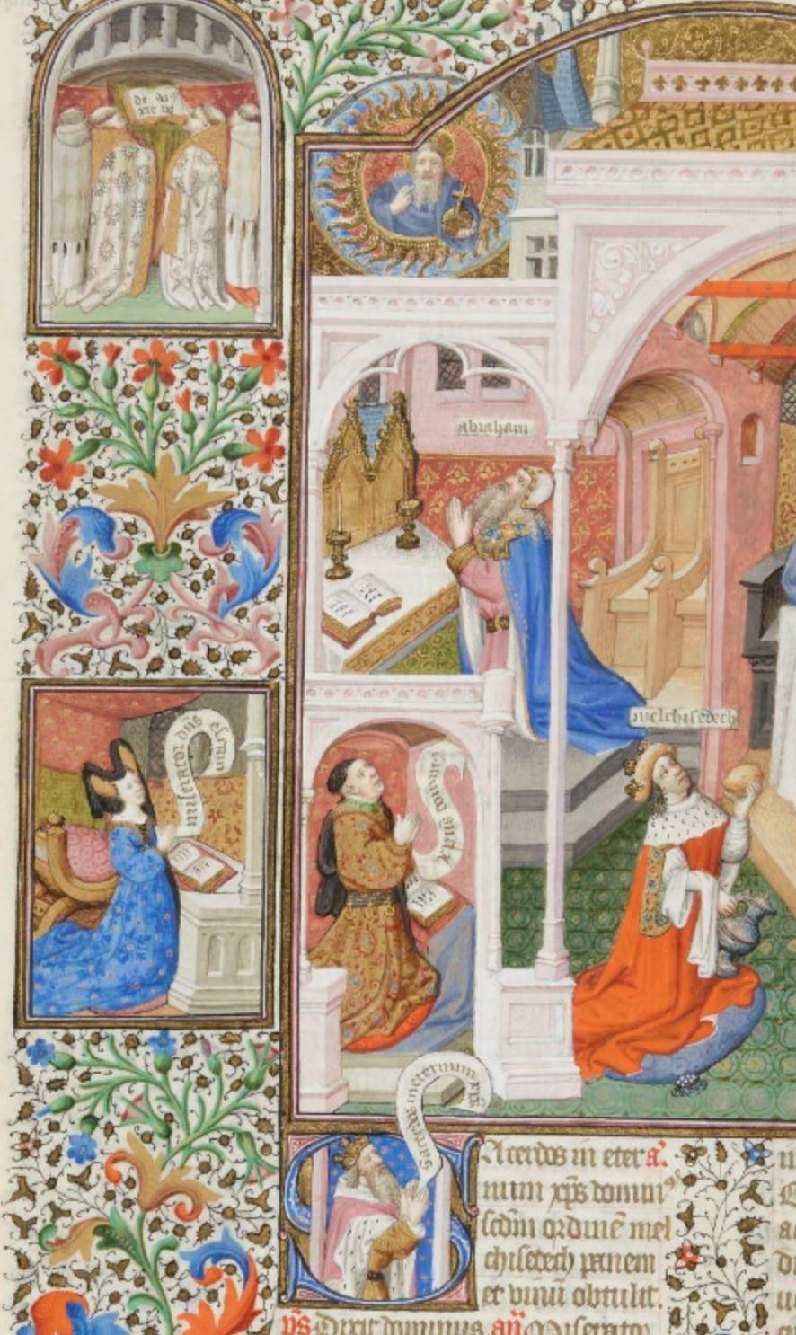 Maitre de Bedford (atelier), 1424-1435, Breviaire de Salisbury, pour le duc de Bedford BNF Lat 17294 fol 283v Melchisedech gallica detail