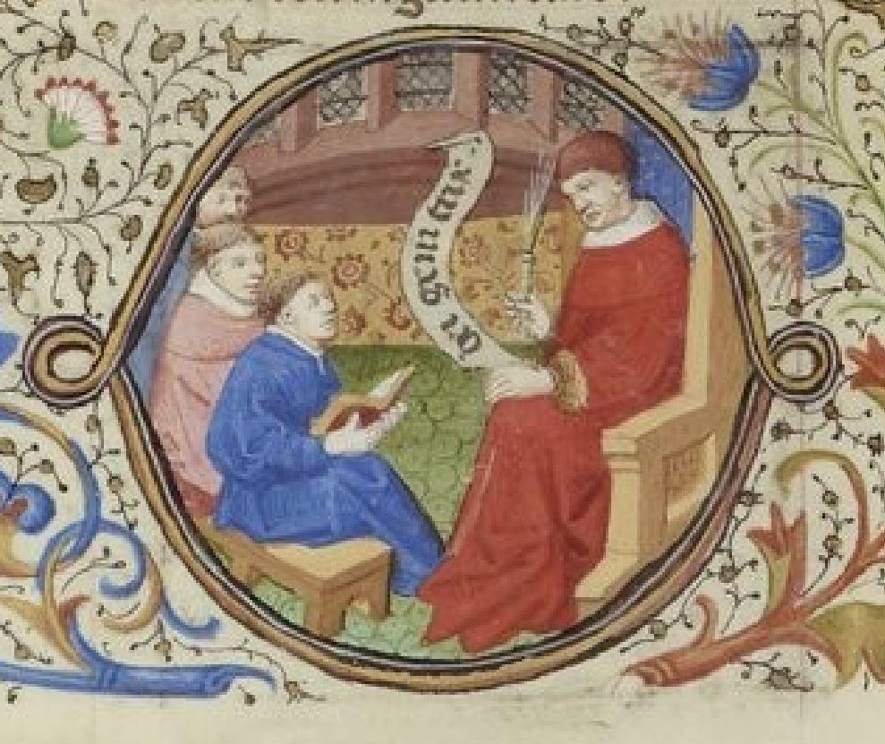 Maitre de Bedford (atelier), 1424-1435, Breviaire de Salisbury, pour le duc de Bedford BNF Lat 17294 fol 566v Naissance de Marie gallica detail
