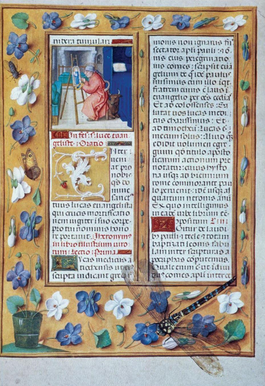 Saint Luc, Breviaire Grimani, 1510-20, Venise, Biblioteca Marciana, MS. Lat I, 99, fol 781v