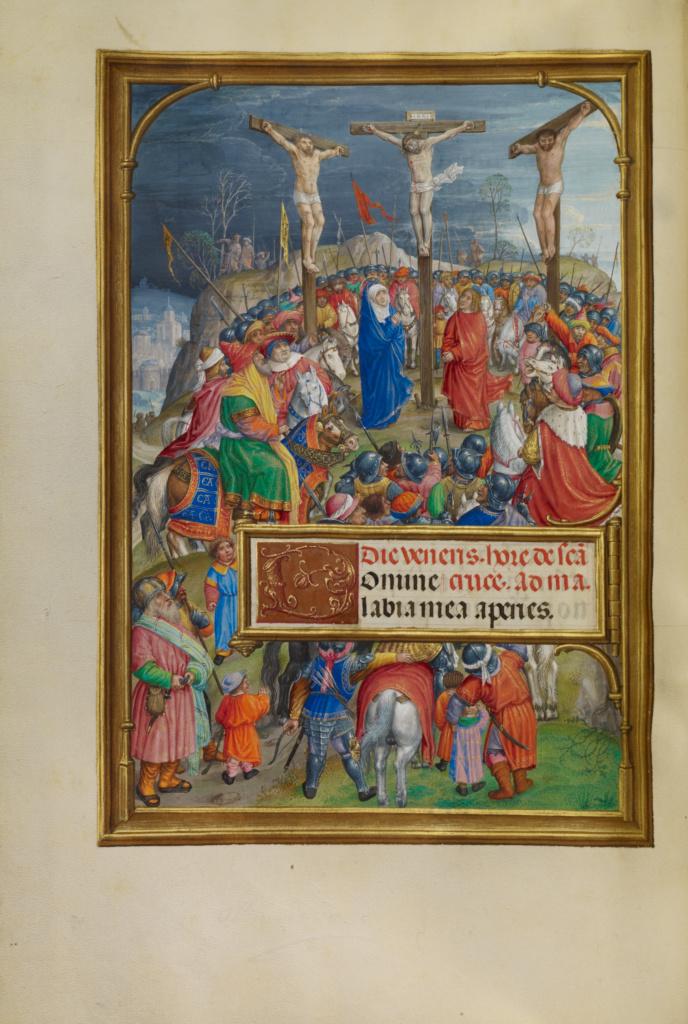 Spinola hours 1510-20 Getty Ms. Ludwig IX 18 fol 056v Master of James IV of Scotland The Crucifixion