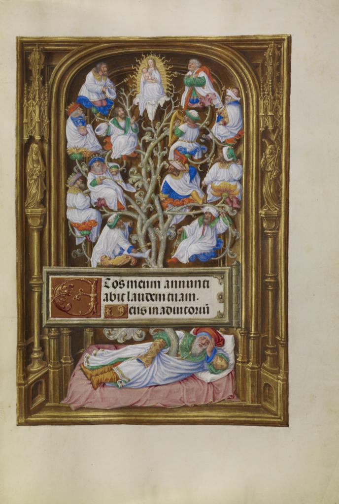 Spinola hours 1510-20 Getty Ms. Ludwig IX 18 fol 065 Master of James IV of Scotland The Tree of Jesse