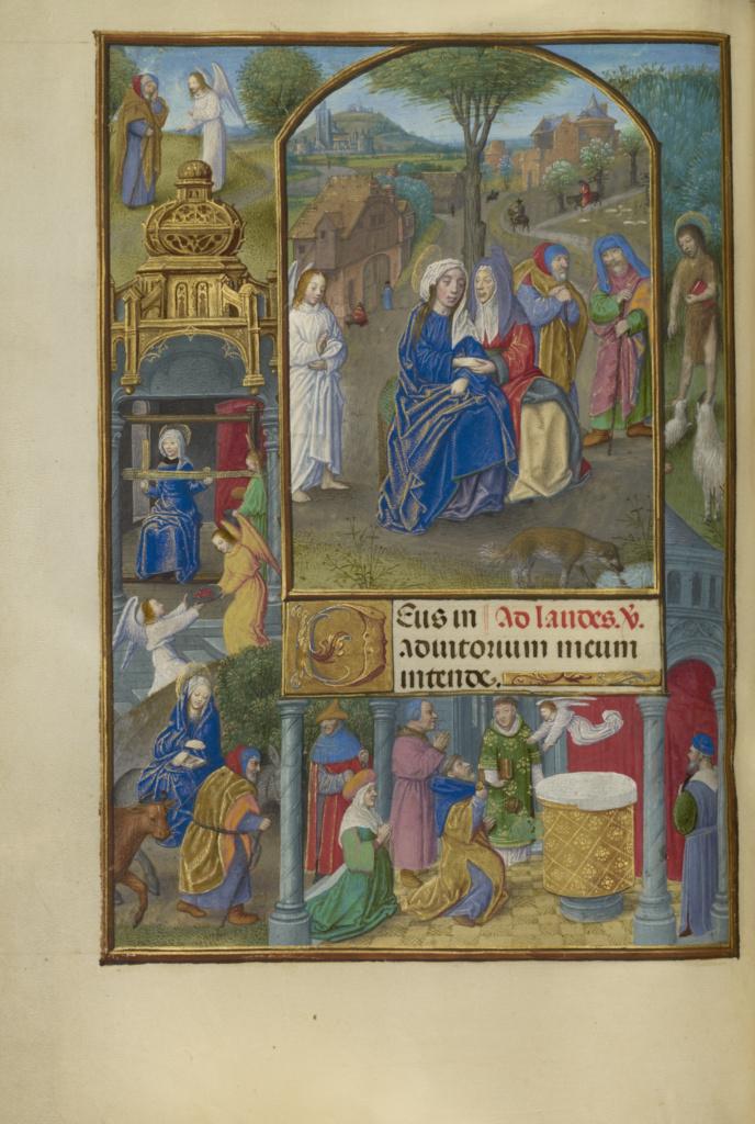 Spinola hours 1510-20 Getty Ms. Ludwig IX 18 fol 109v Master_of_the_Dresden_Prayer_Book The_Visitation