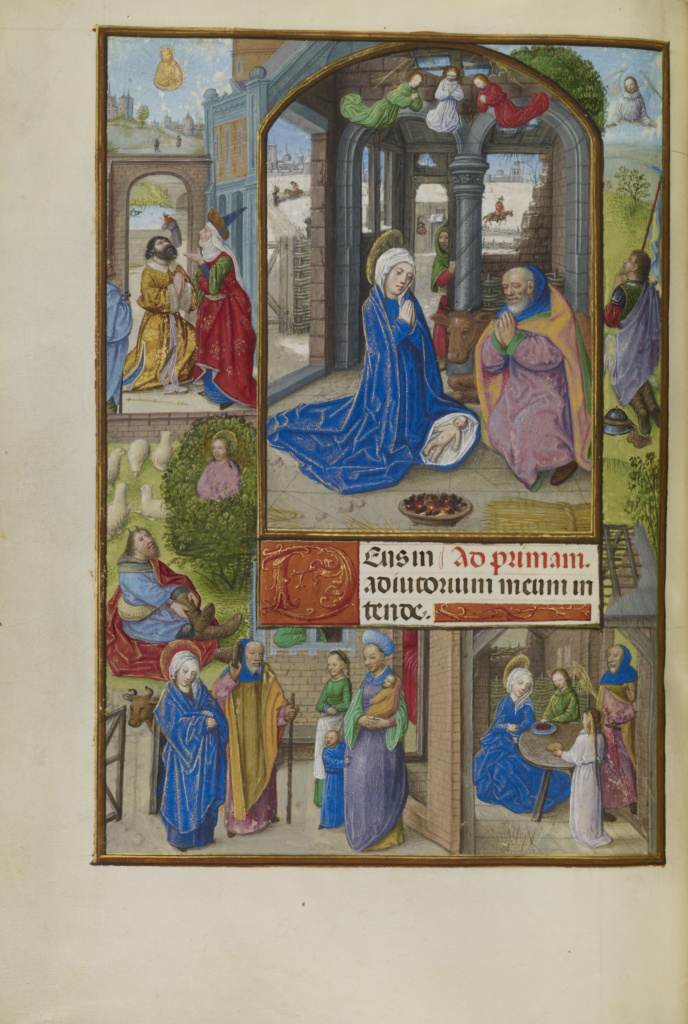 Spinola hours 1510-20 Getty Ms. Ludwig IX 18 fol 119v The Nativity