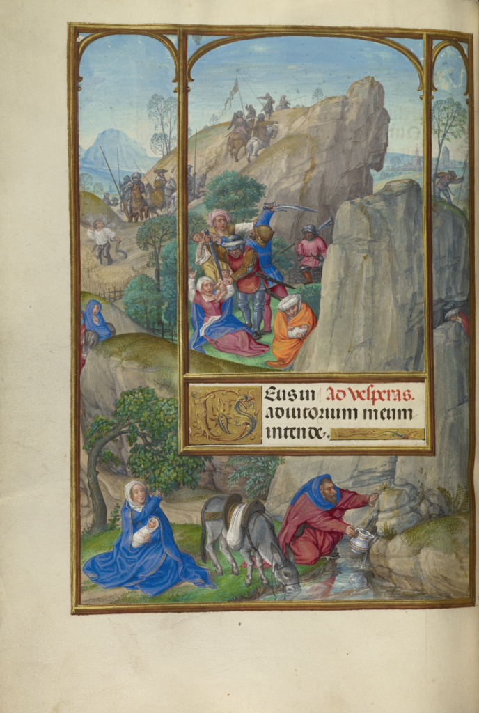 Spinola hours 1510-20 Getty Ms. Ludwig IX 18 fol 140v Master of James IV of Scotland The Massacre of the Innocents