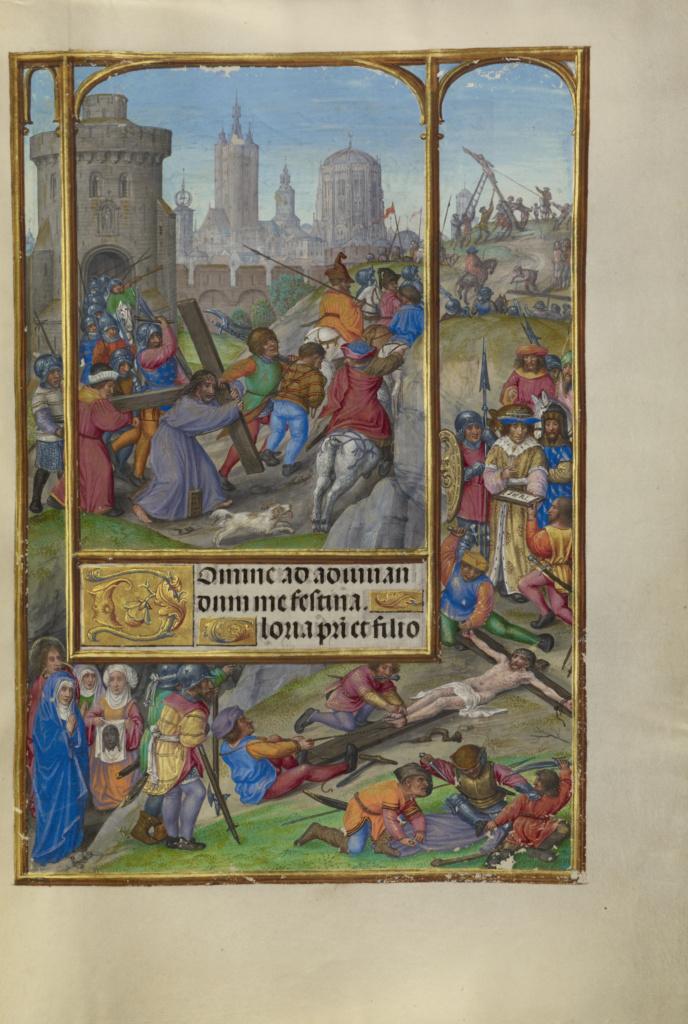 Spinola hours 1510-20 Getty Ms. Ludwig IX 18 fol 141 Master of James IV of Scotland The Way to Calvary