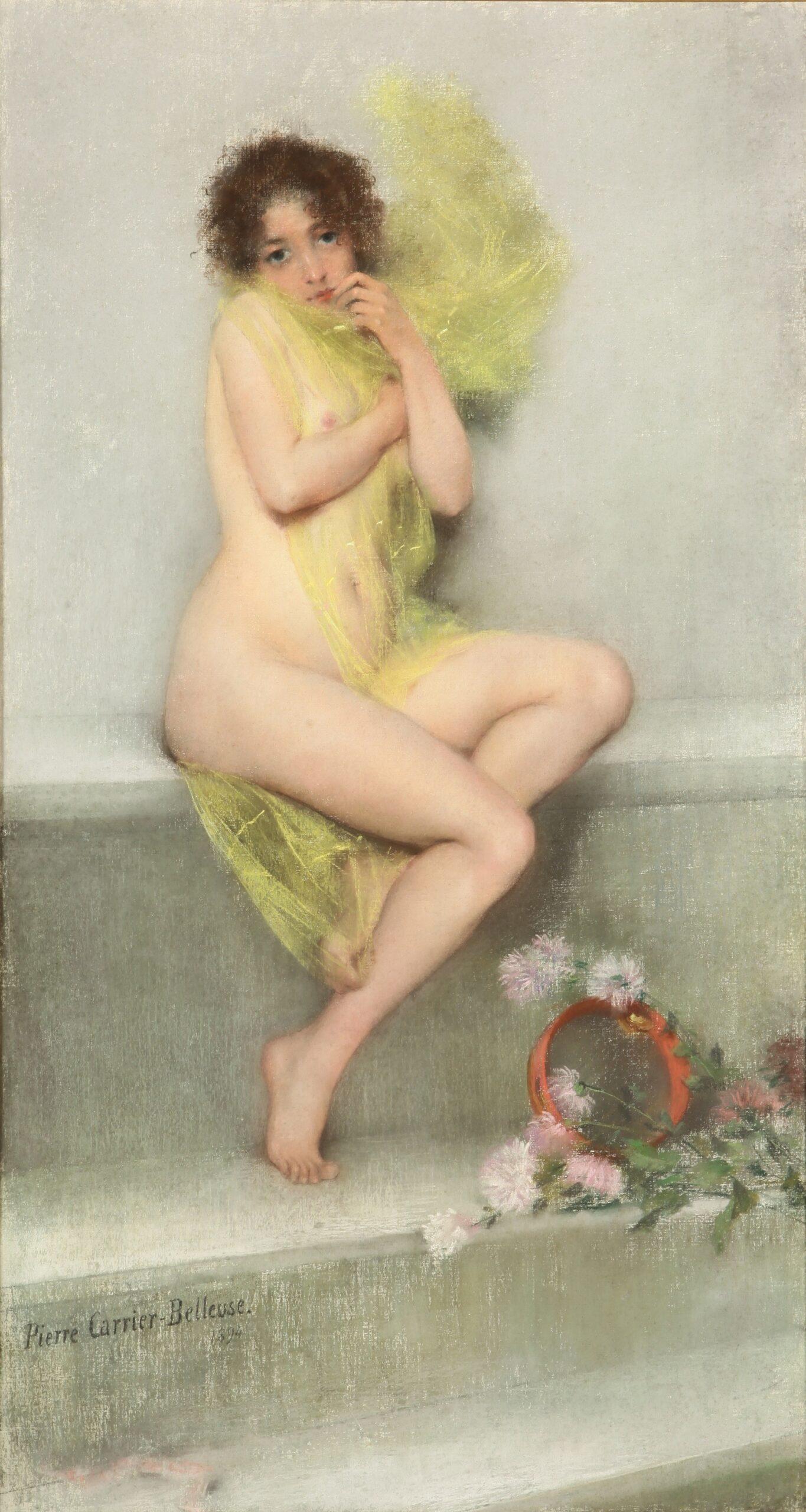 Pierre Carrier-Belleuse 1894 La frileuse Museo nacional de bellas artes Buenos Aires