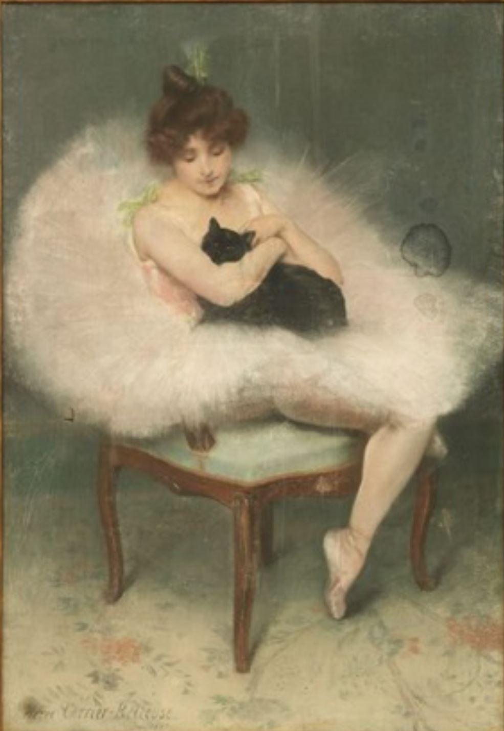 Pierre Carrier-Belleuse 1897 Danseuse au chat noir