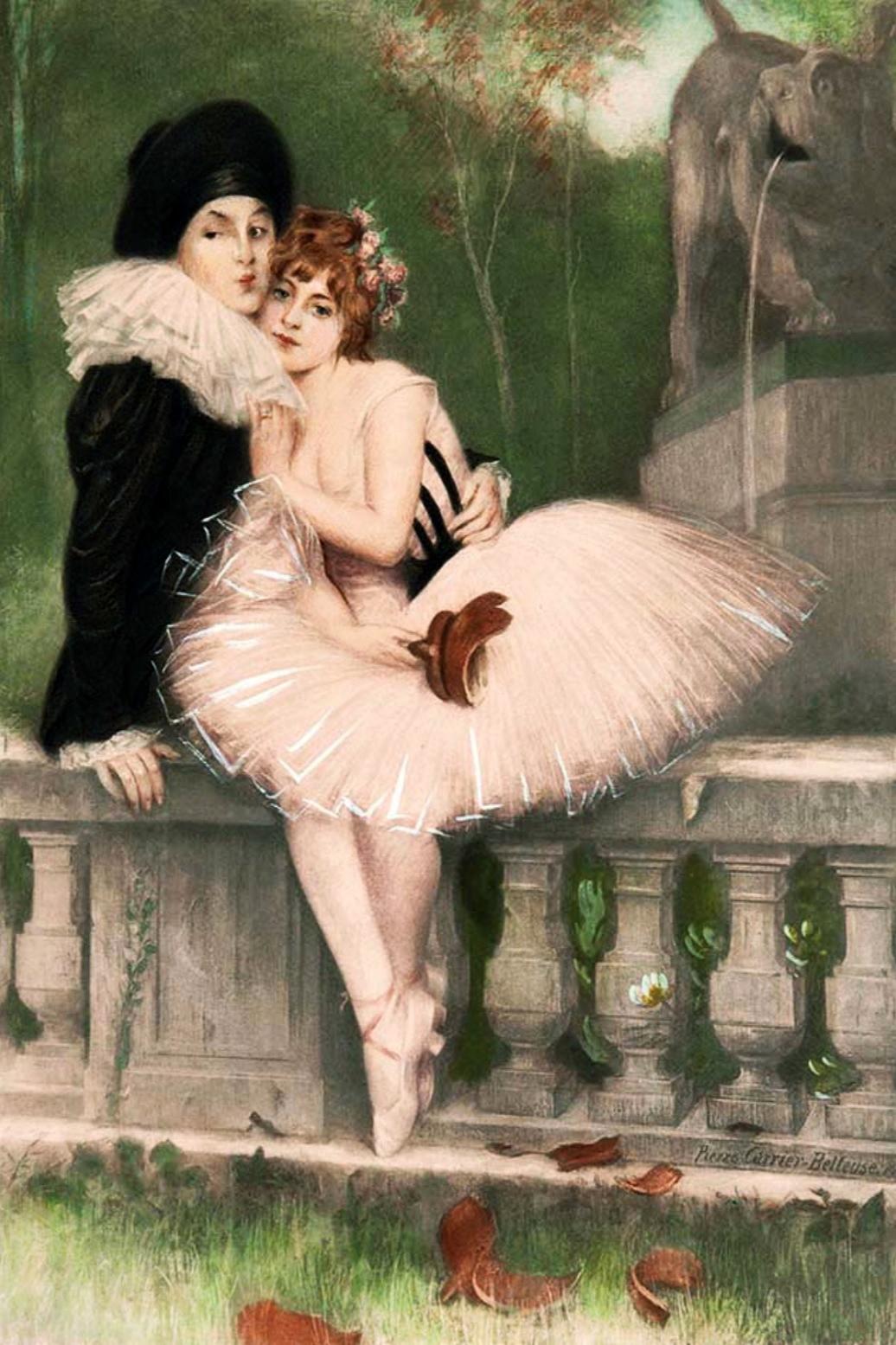 Pierre Carrier-Belleuse 1901 Pierrot et colombine