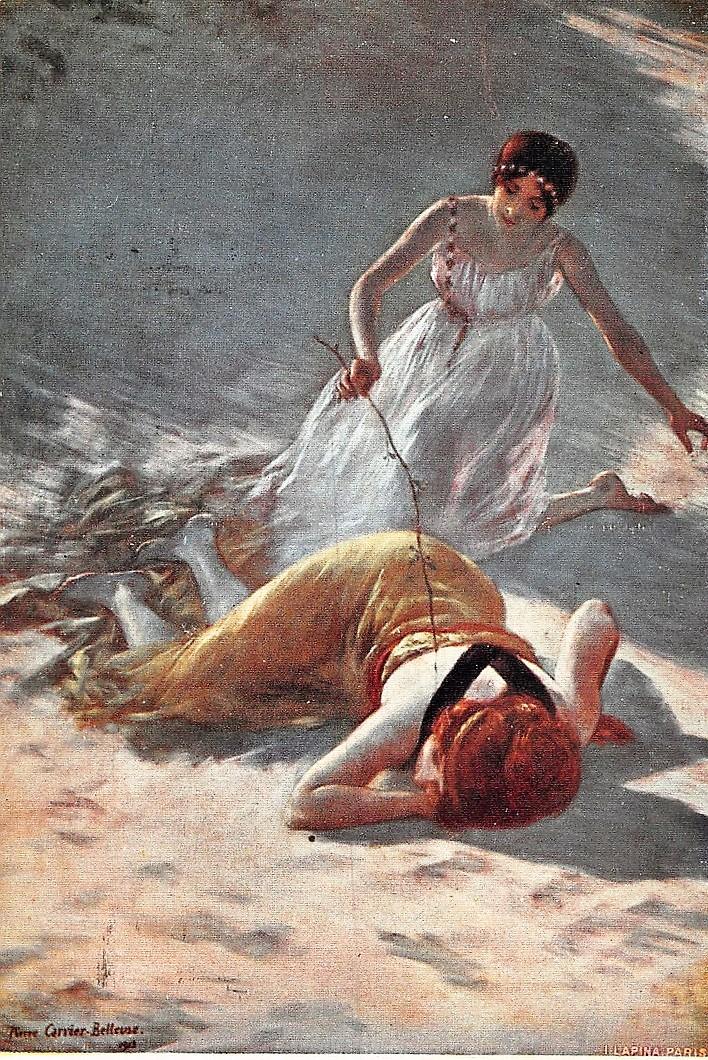 Pierre Carrier-Belleuse 1912 La chatouille (le jeu innocent)