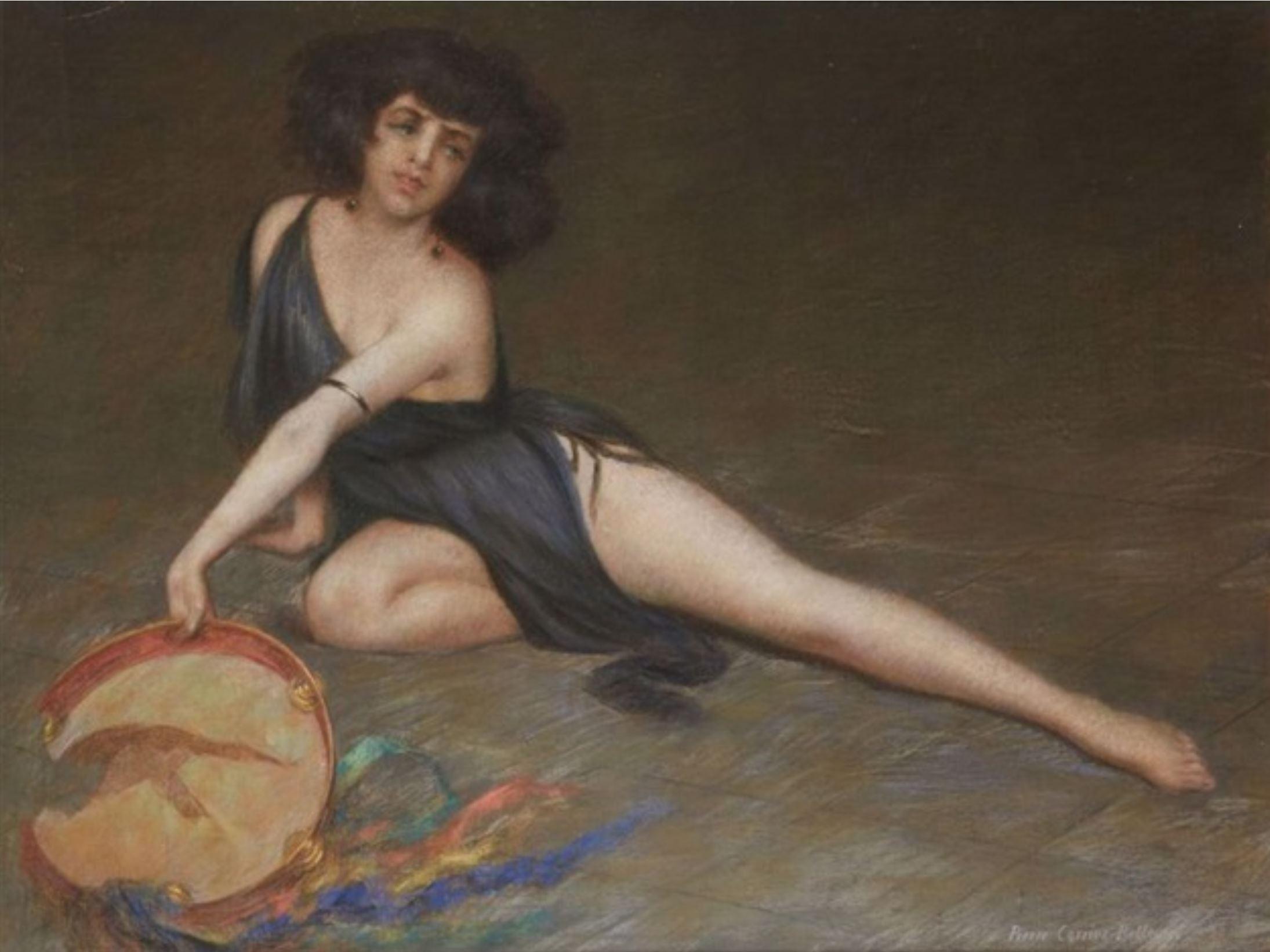 Pierre Carrier-Belleuse 1924 Danseuse au tambourin (Nina Constantinova)