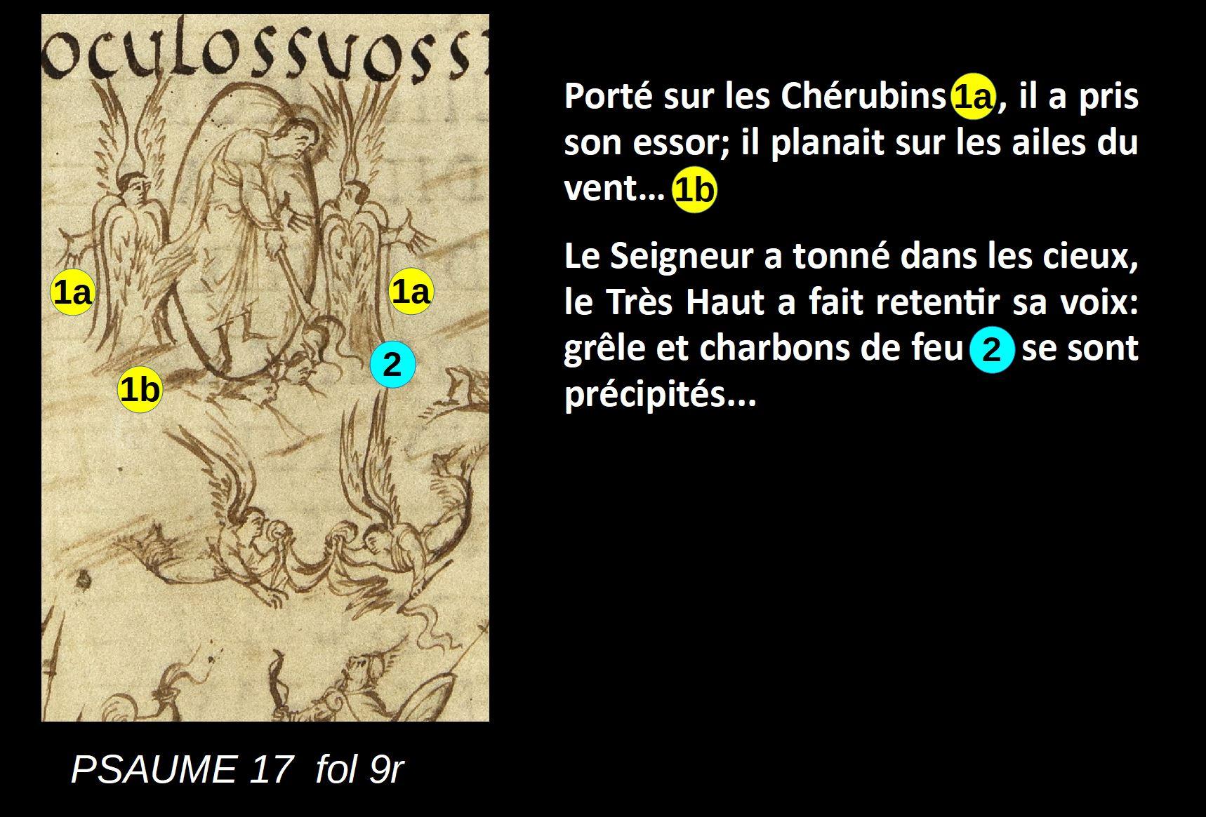 Utrecht Psalter PSAUME 17 fol 9r schema