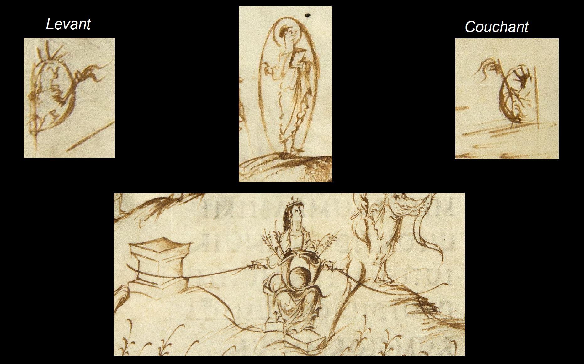 Utrecht Psalter PSAUME 49 fol 28v details