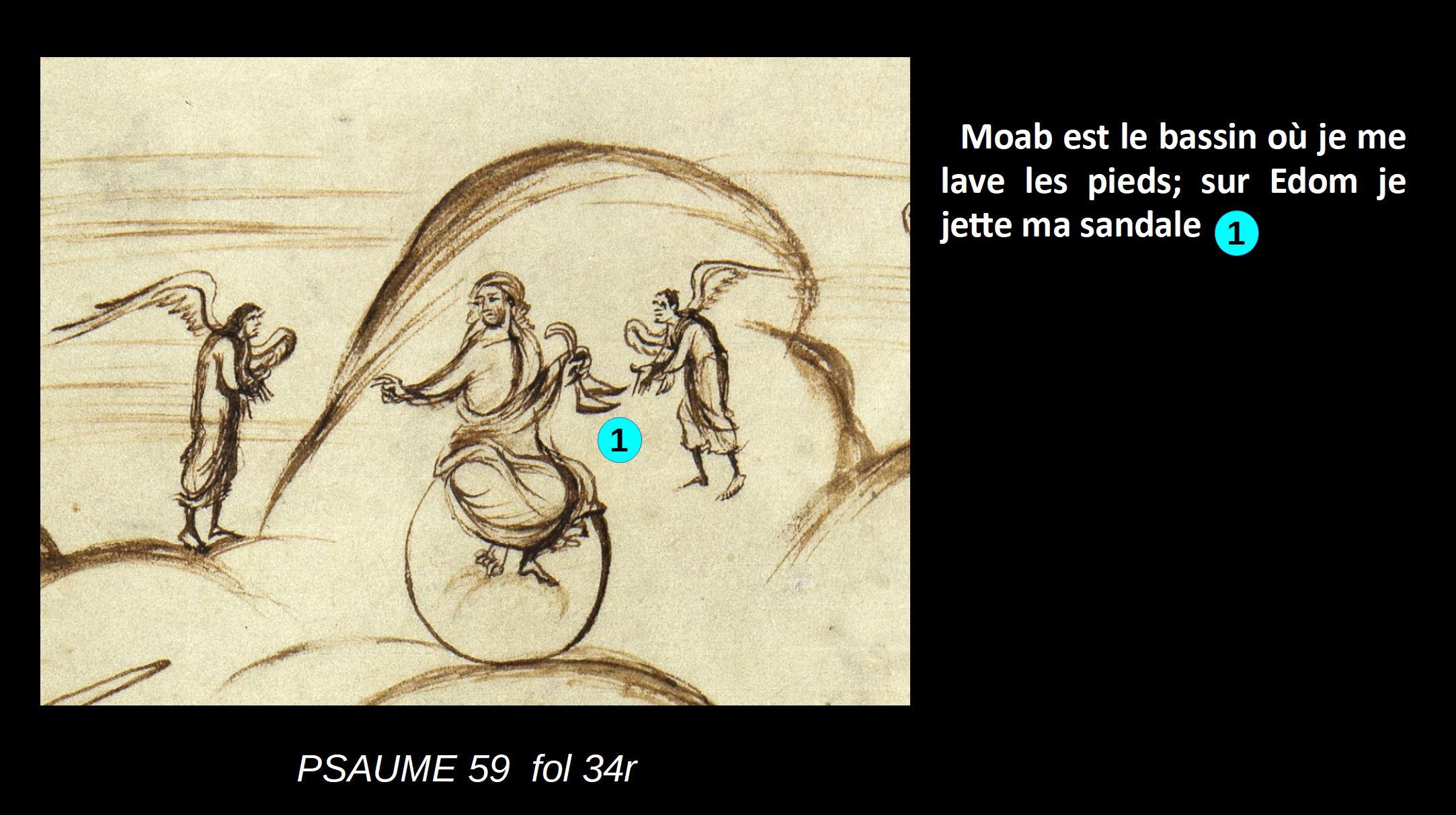 Utrecht Psalter PSAUME 59 fol 34r schema