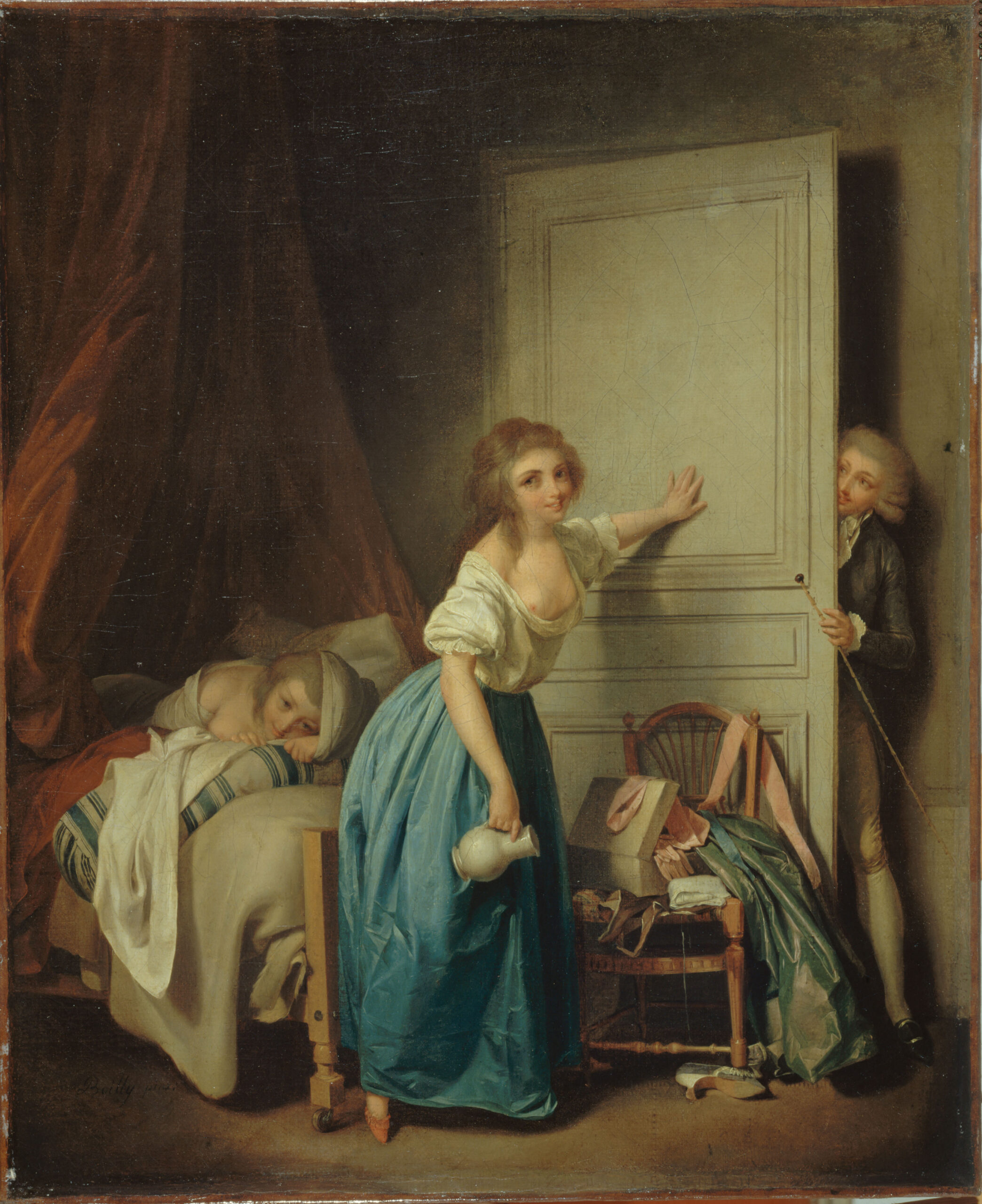 """Louis Léopold Boilly (1761-1845). """"L'Indiscret"""","""
