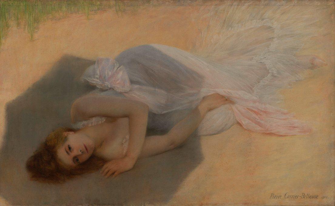 pierre carrier-belleuse 1900 Jeune femme sur la dune Petit Palais