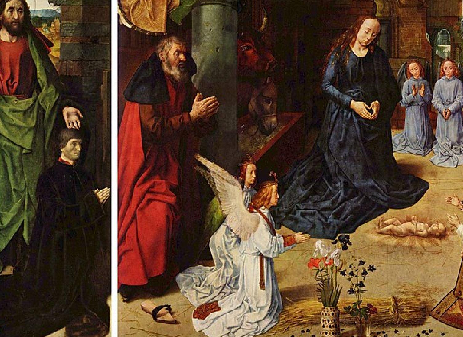 1475 Hugo_van_der_Goes Triptyque Portinari Offices Florence detail