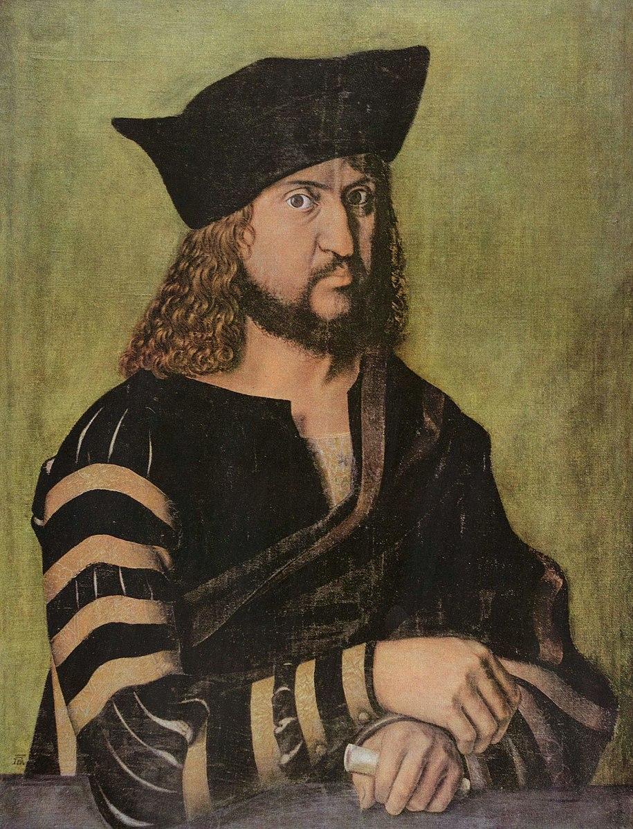 Durer 1496 POrtrait de Frederic III de Saxe Gemaldegalerie,Berlin