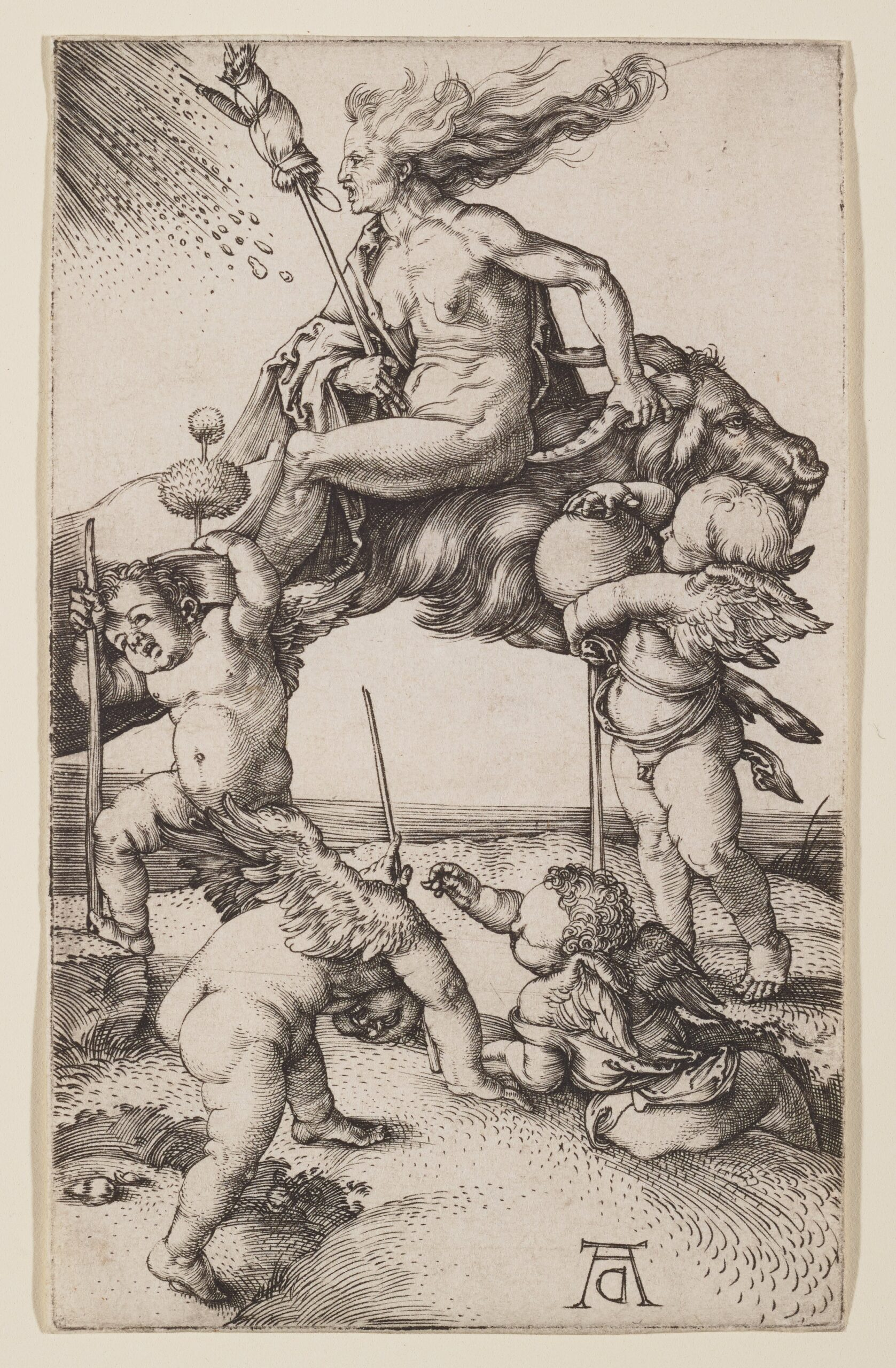 Durer 1500 witch-riding-backwards-on-a-goat