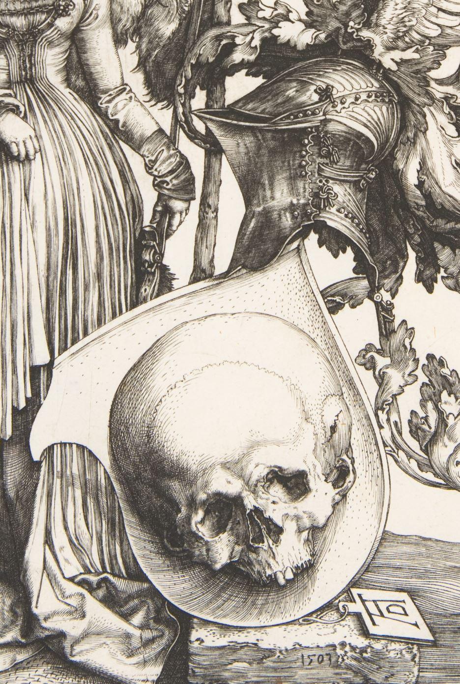 Durer 1503 Coat of Arms with a Skull MET detail ecu