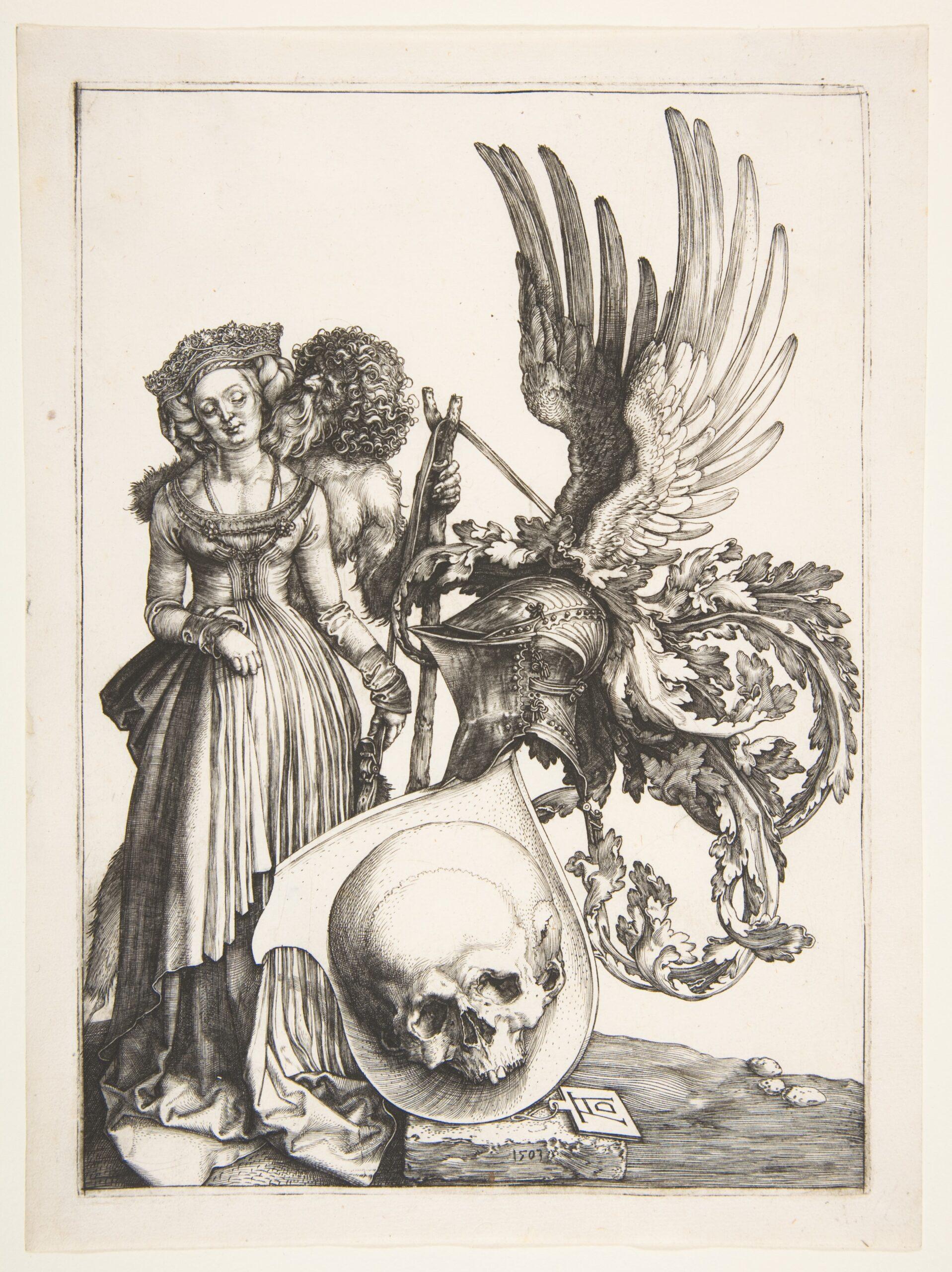 Durer 1503 Coat of Arms with a Skull MET
