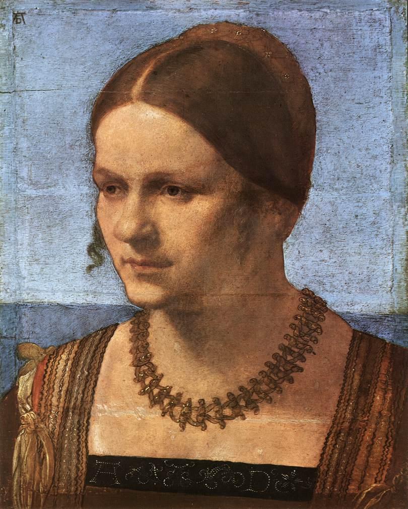 Durer 1506 Portrait_of_a_Venetian_Woman Gemaldegalerie Berlin