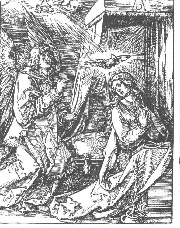 Durer 1511 Small passion annonciation