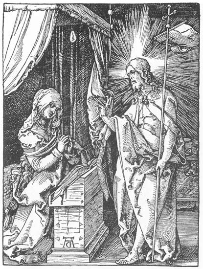 Durer 1511 Small passion christ-appears-to-his-mother