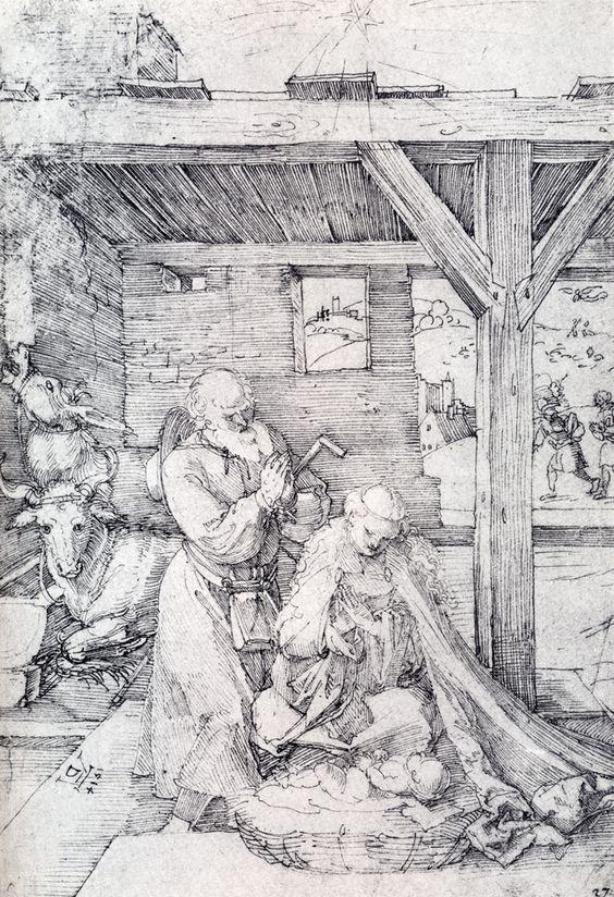 Durer 1514 Nativite albertina