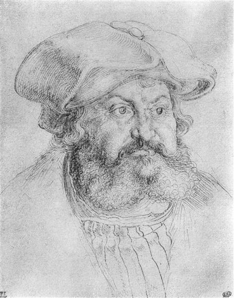 Durer 1523 Frederick the Wise, Elector of Saxony dessin