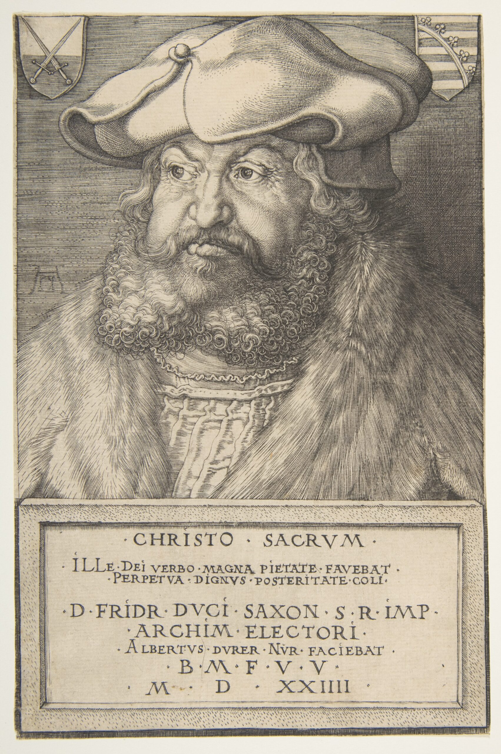 Durer 1524 Frederick the Wise, Elector of Saxony