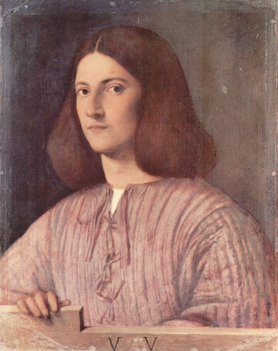 Giorgione 1505 ca Giustiniani portrait Gemaldegalerie Berlin