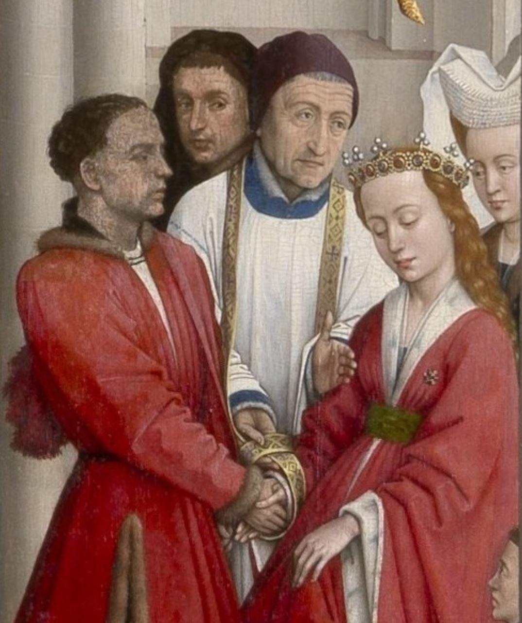 Retable des sept sacrements, mariage, Van der Weyden 1445-50 Musee royal des Beaux Arts Anvers